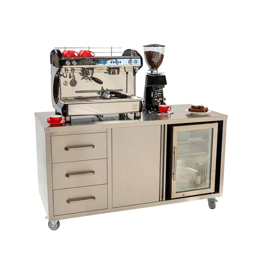 Coffee Cart – Machine Ready, 1600 x 700 x 900mm