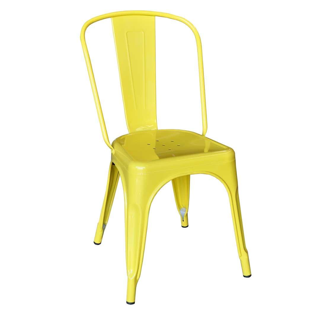 Replica Xavier Pauchard Tolix Chair, Yellow