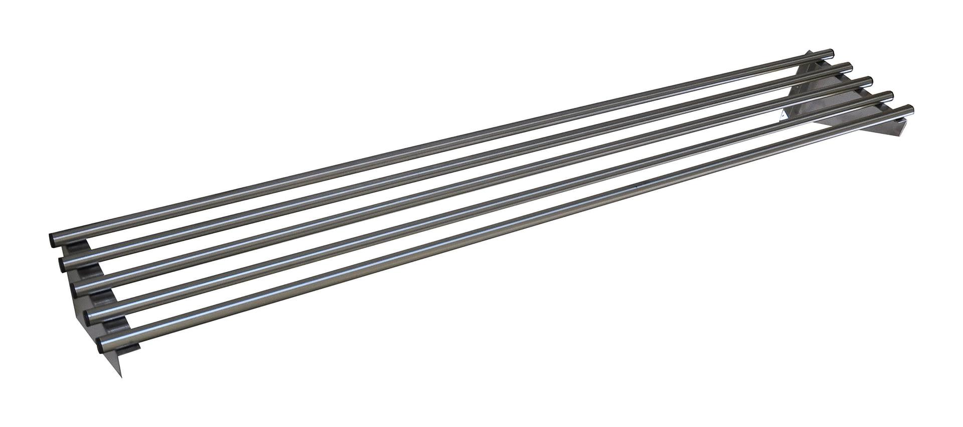 Stainless Steel Pipe Wall Shelf, 1800 X 300mm deep