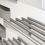 Stainless Commercial Kitchen Pipe Wall Shelf, 1200 X 450mm deep-2524