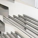 Stainless Steel Restaurant Pipe Wall Shelves, 1500 X 450mm deep-2528