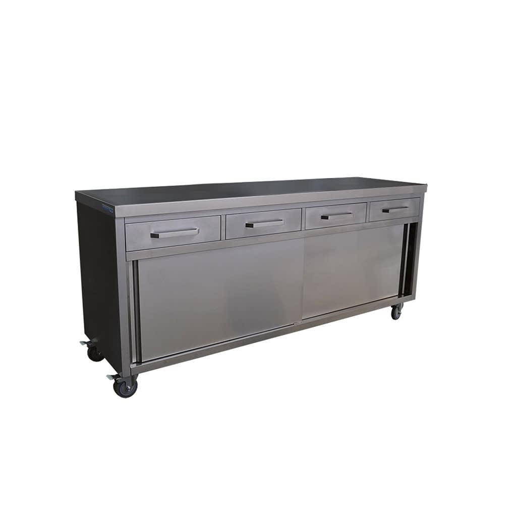 Stainless Steel Kitchen Cabinets, 2000 x 610 x 900mm high