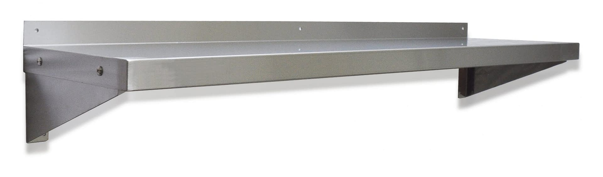 Stainless Steel Solid Wall Shelf, 1200 X 300mm deep