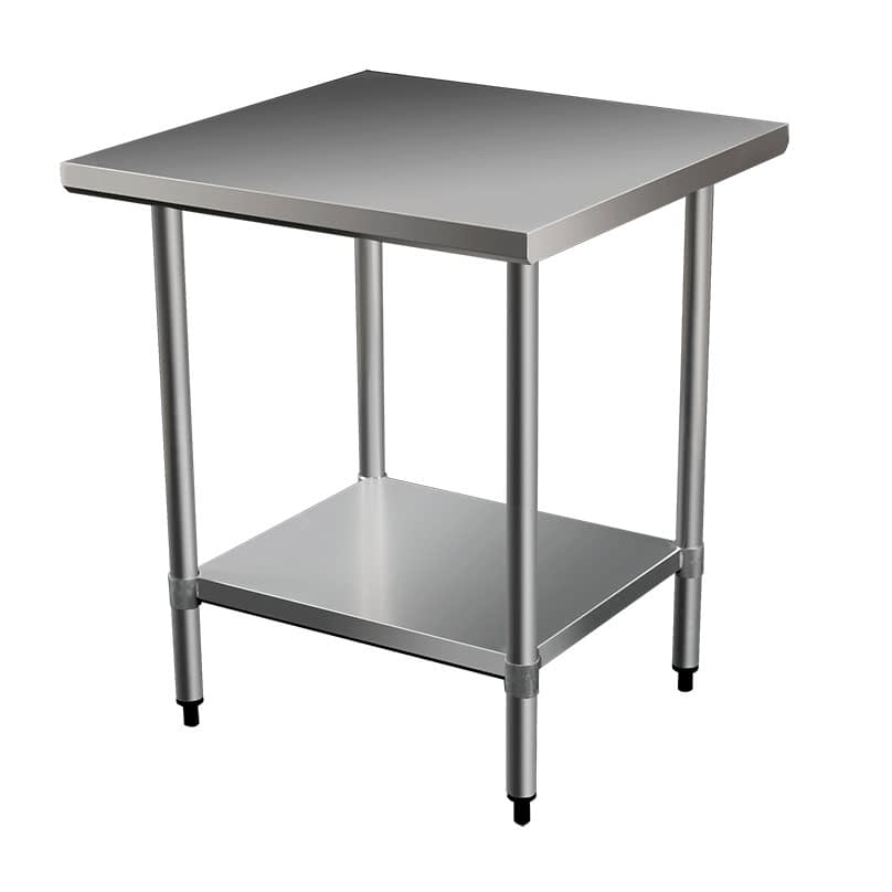 Commercial Grade Stainless Steel Flat Bench, 610 x 610 x 900mm high