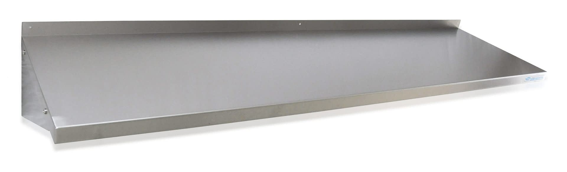 Stainless Steel Solid Wall Shelf, 1800 X 450mm deep