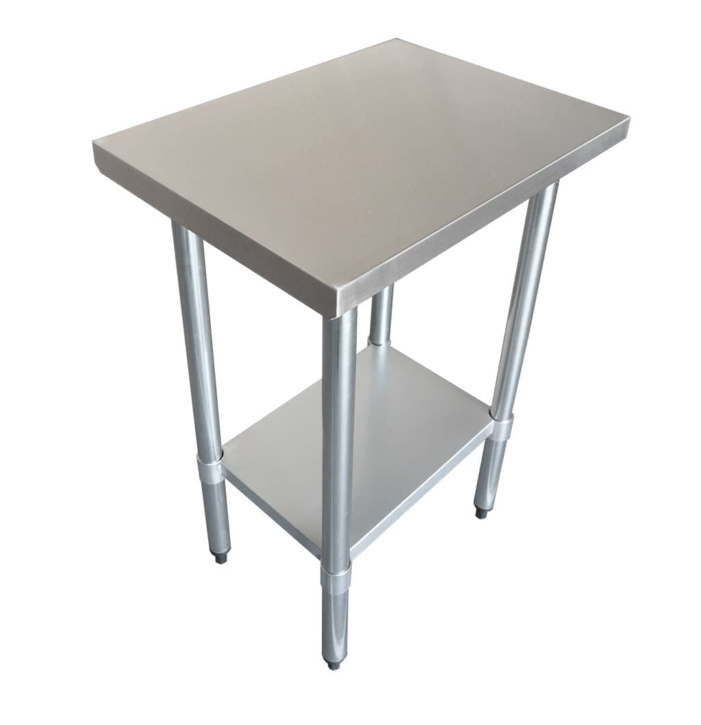 Commercial Grade Stainless Steel Flat Bench 610 x 457 x 900mm high