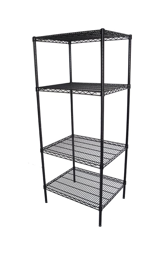 Epoxy Wire Shelving For Coolroom/Dry Store, 4 Tier, 762 X 610 deep x 1800mm high