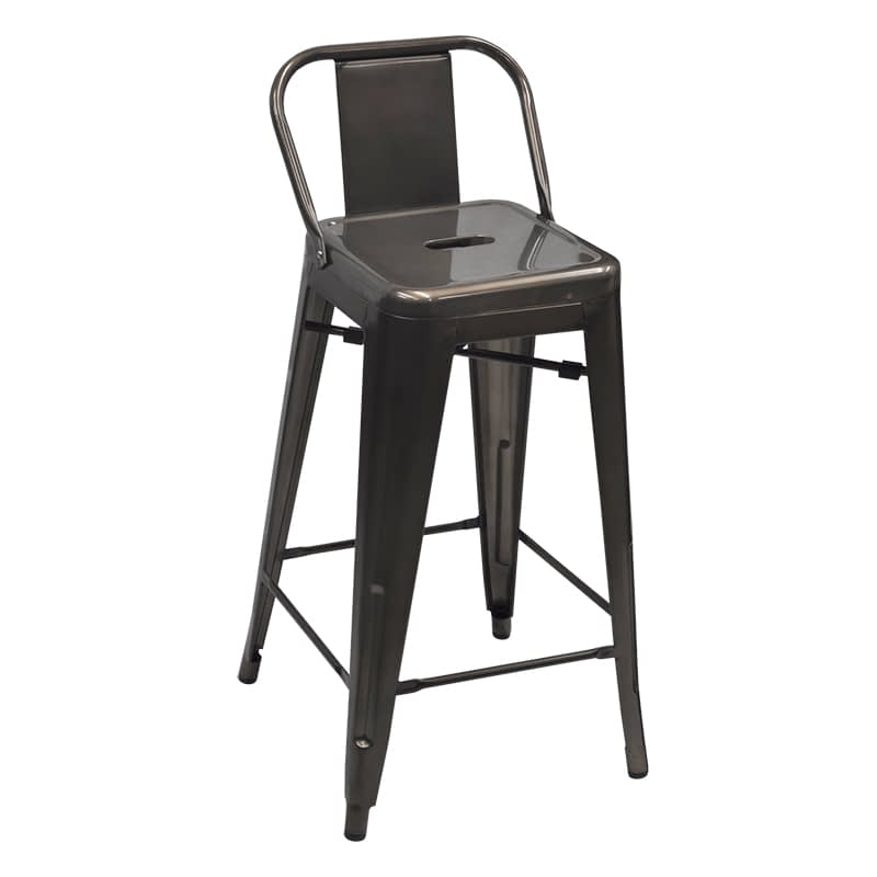 Replica Xavier Pauchard Tolix Stool with Low Back, 76cm – 3 colours