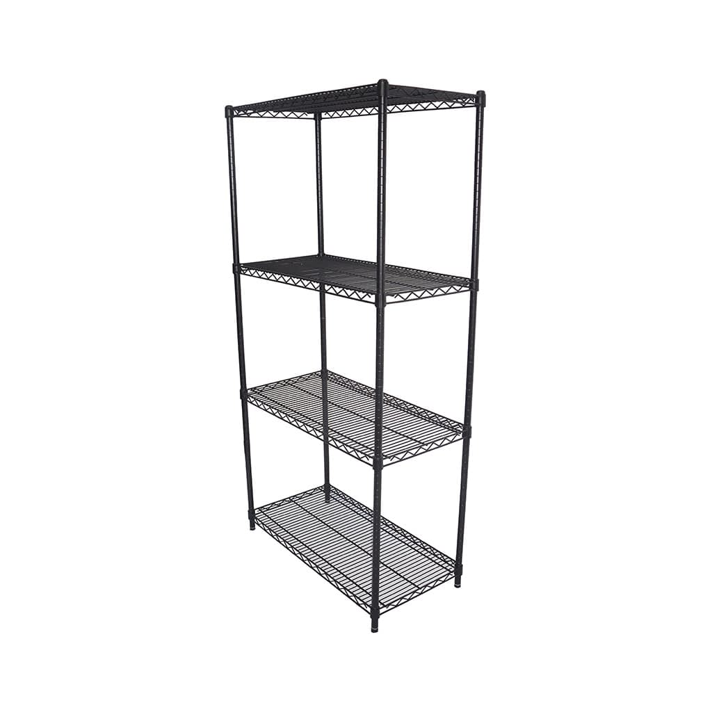 Epoxy Wire Shelving For Coolroom/Dry Store, 4 Tier, 914 X 457 deep x 1800mm high