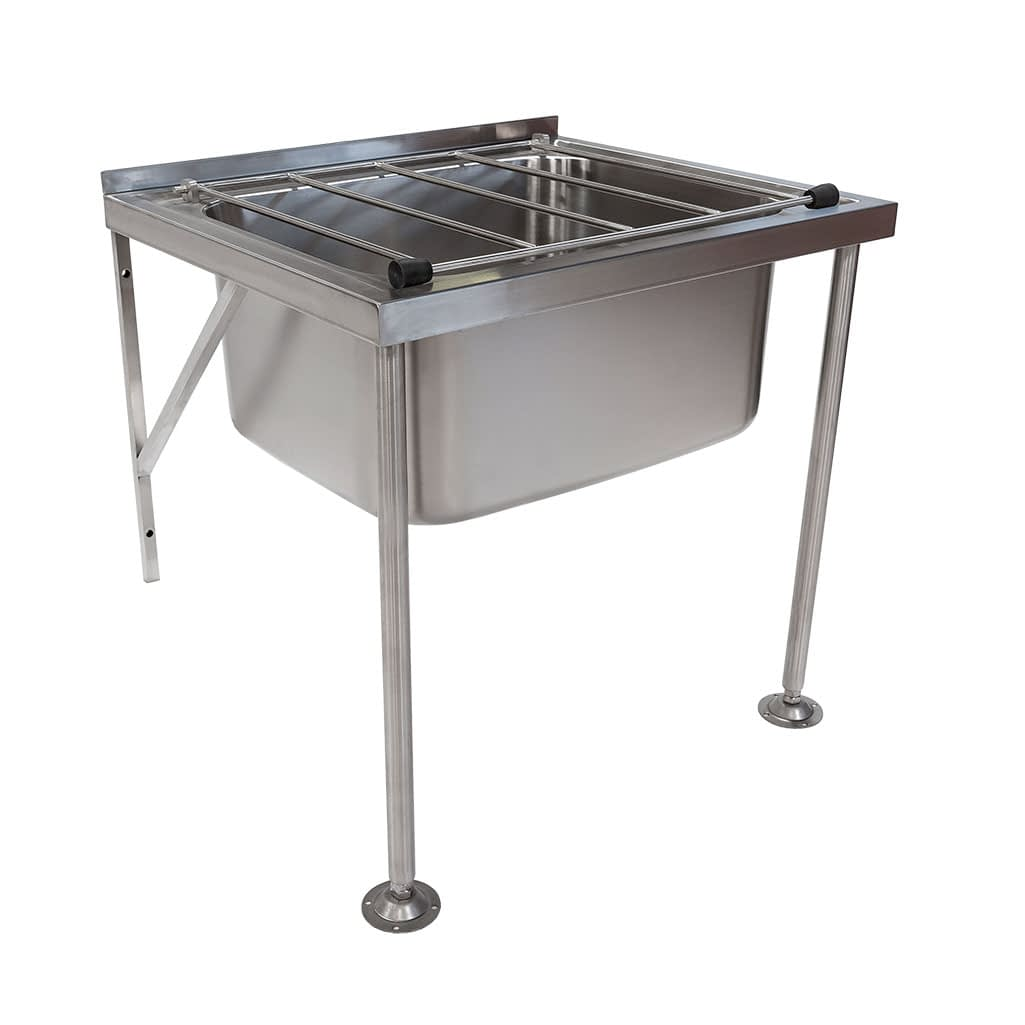 Stainless Steel Commercial Kitchen Wall Mounted Mop Sink with Screw Down Feet