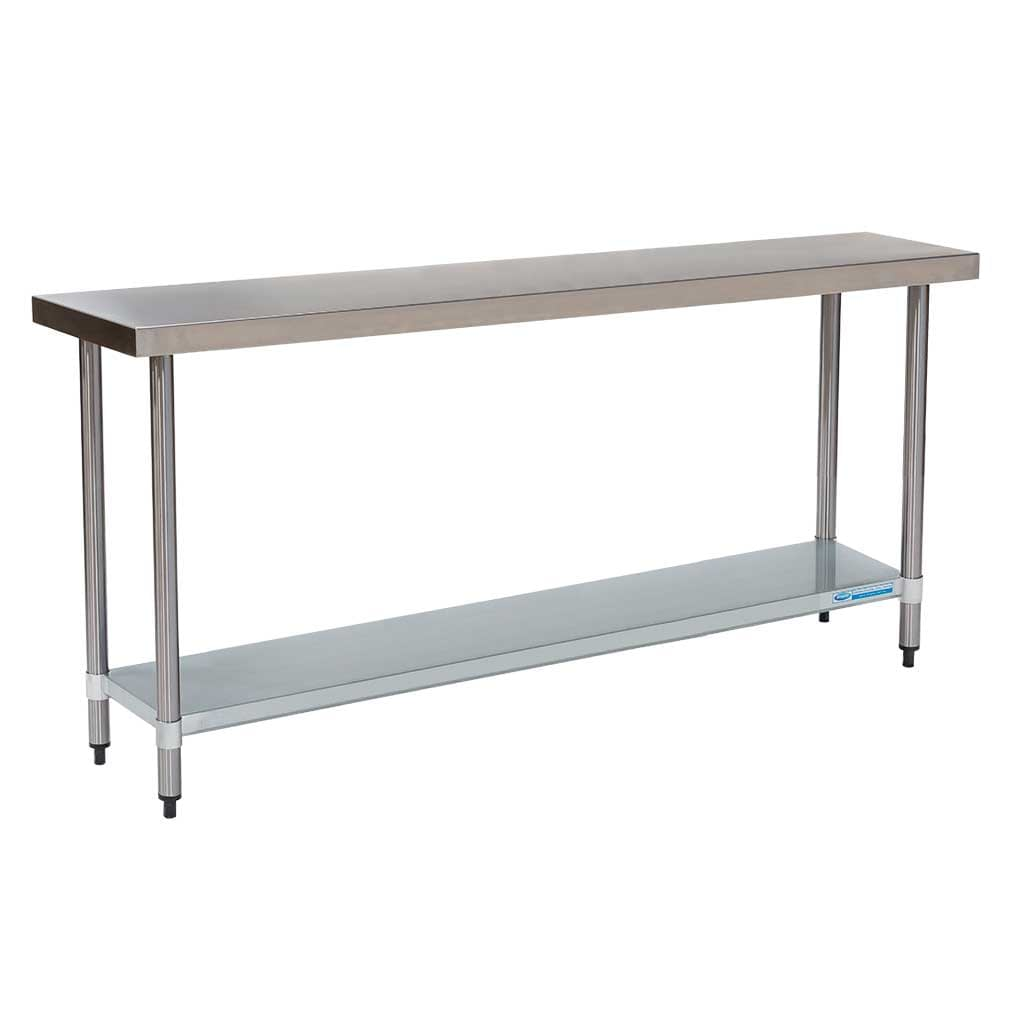 Commercial Grade Stainless Steel Flat Bench 1800 x 450 x 900mm high