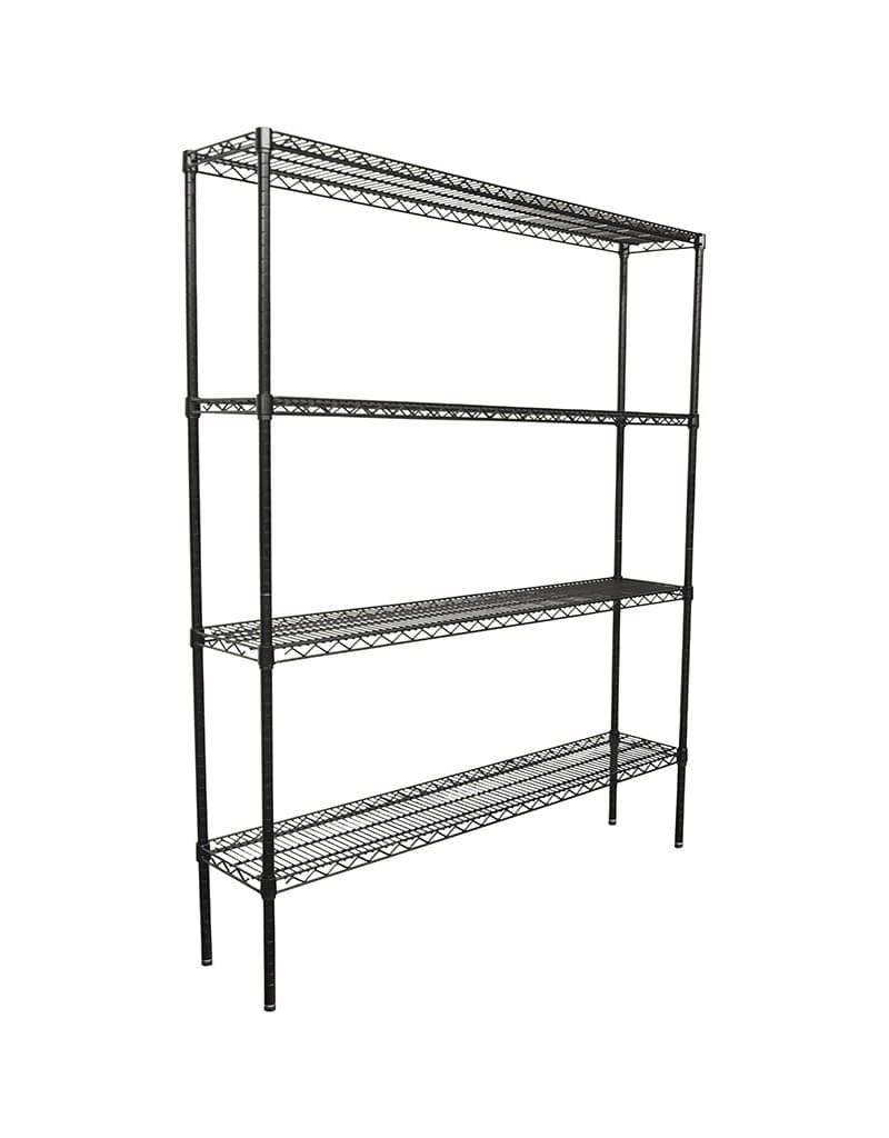 Epoxy Wire Shelving For Coolroom/Dry Store, 4 Tier, 1524 x 305 deep x 1800mm high