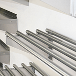 Stainless Steel Commercial Kitchen Pipe Wall Shelves, 900 X 450mm deep-2520