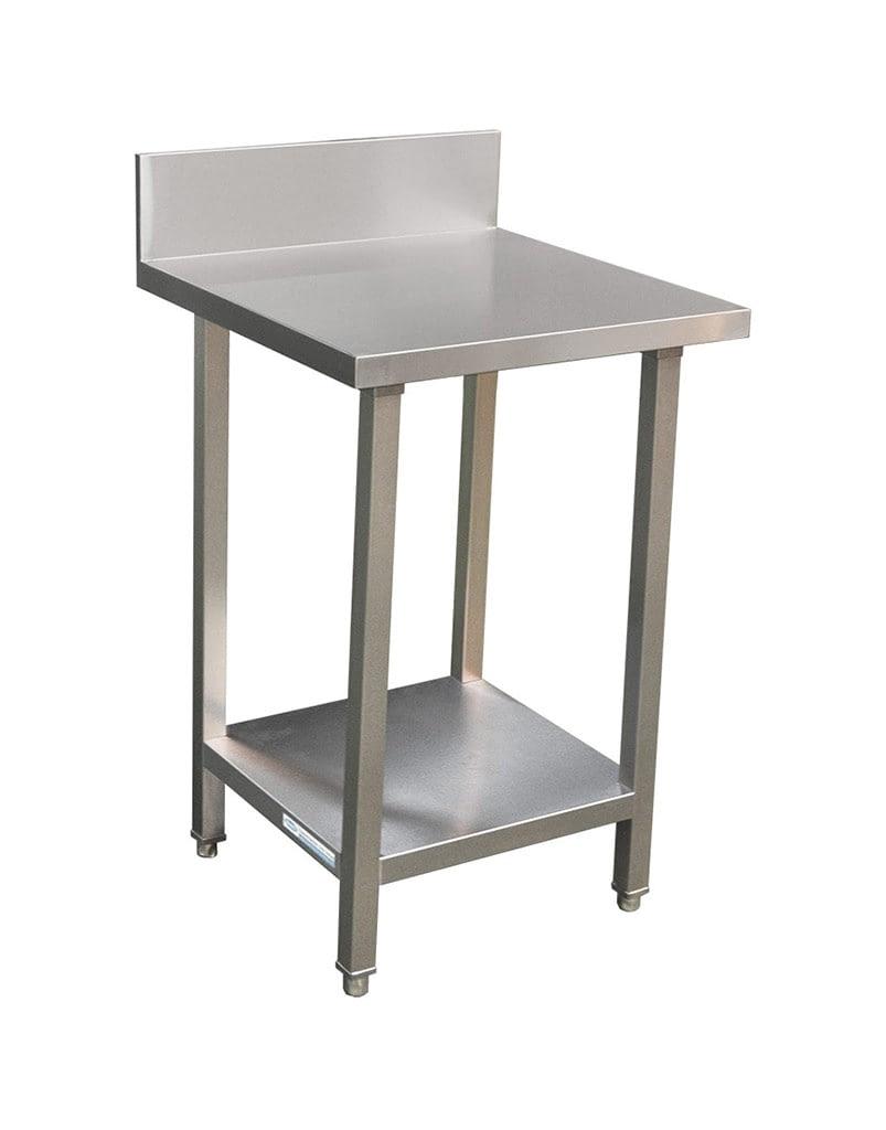 Commercial Grade Stainless Steel Splashback Bench, Premium Range 600 X 610 X 900mm high