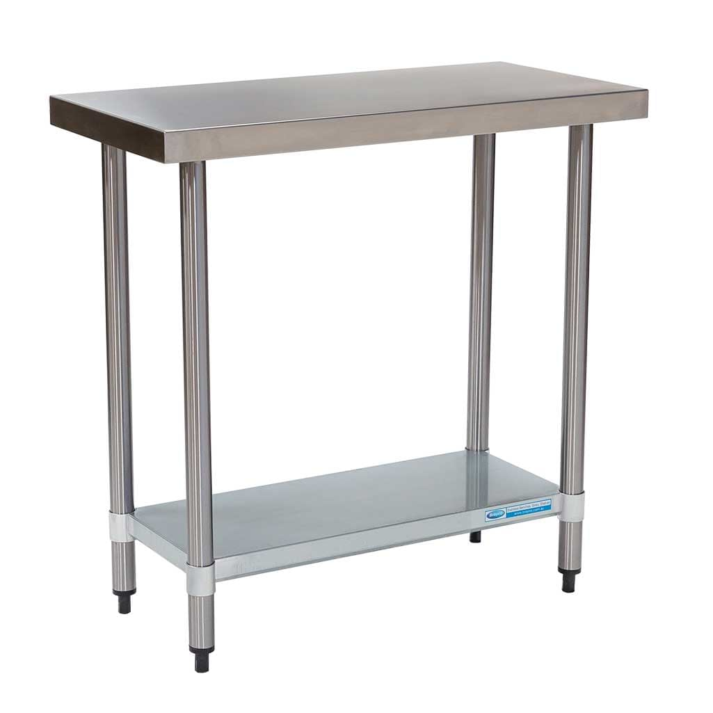 Commercial Grade Stainless Steel Flat Bench 900 x 450 x 900mm high