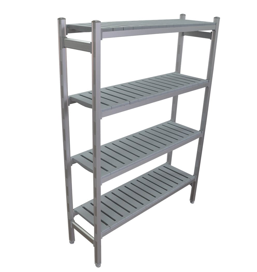 Complete Bay for 1225 x 355 deep x 1700mm high Premium Coolroom Shelving