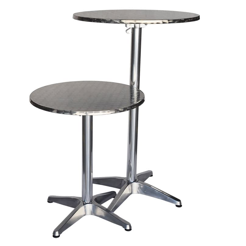 Miguel Folding Dining or Bar Height Table, 60cm, Round