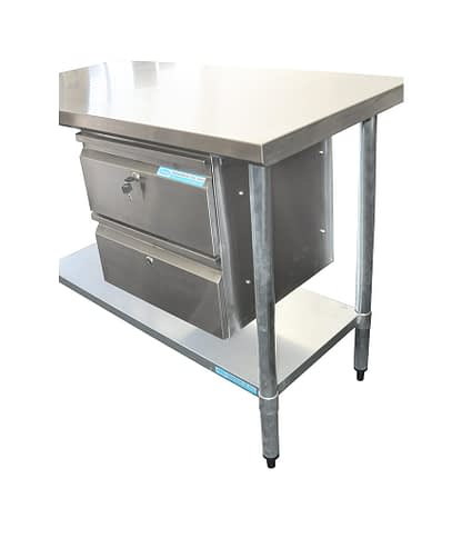 Stainless Steel Double Underbench Drawer, 450 x 480 x 435mm high.