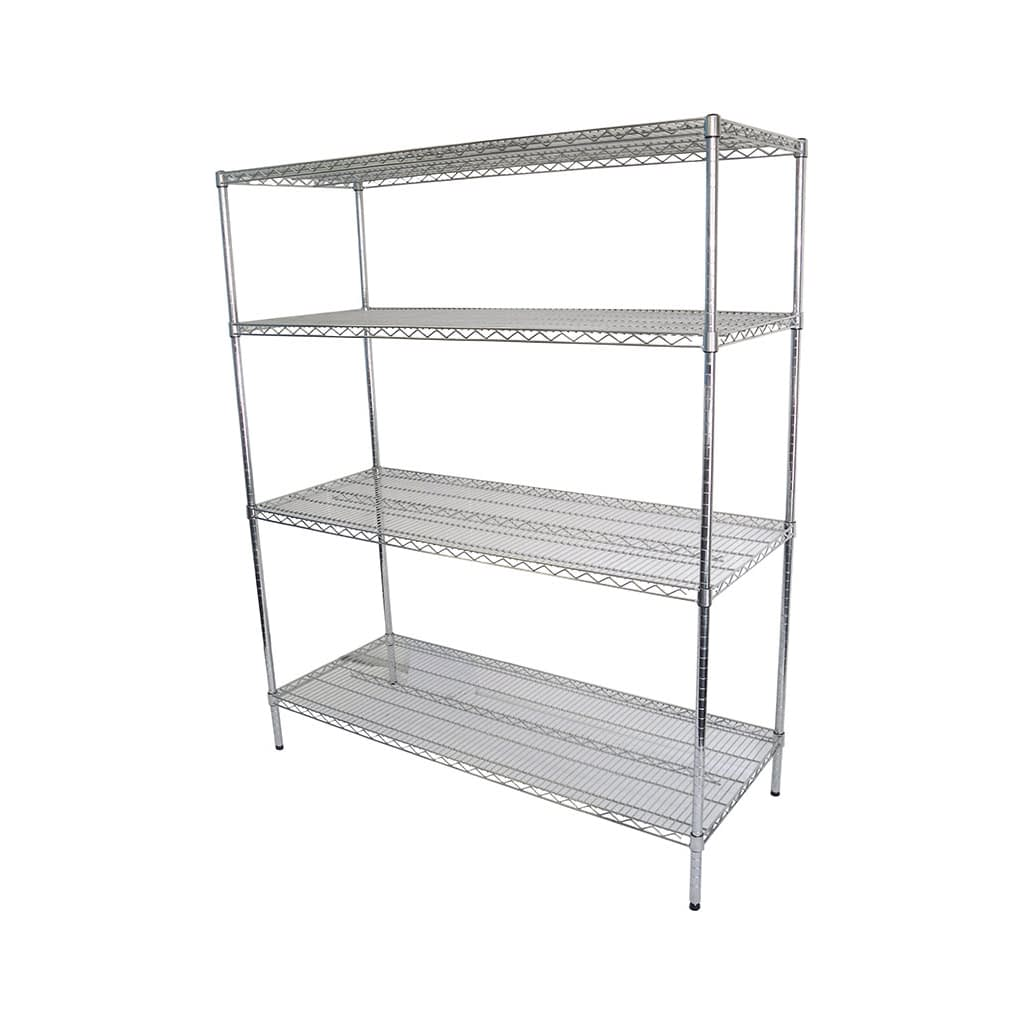 Chrome Dry Store Wire Shelving 4 Tier, 1524 X 610 deep x 1800mm high
