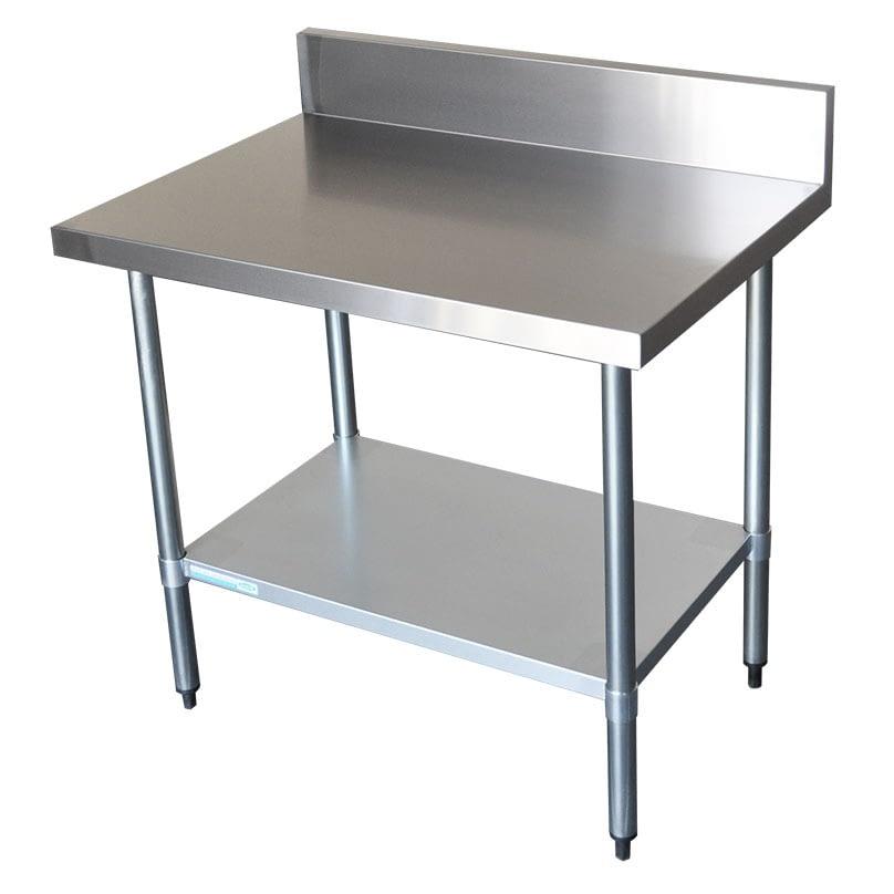 Commercial Grade Stainless Steel Splashback Bench 1000 X 700 X 900mm high