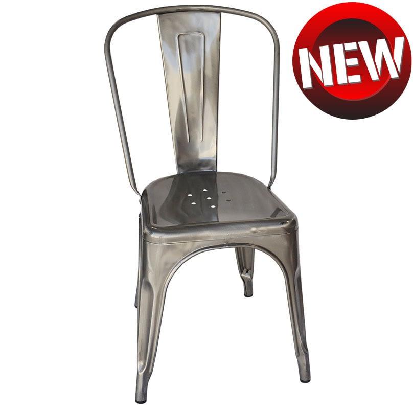 Replica Xavier Pauchard Tolix Chair, Raw Steel