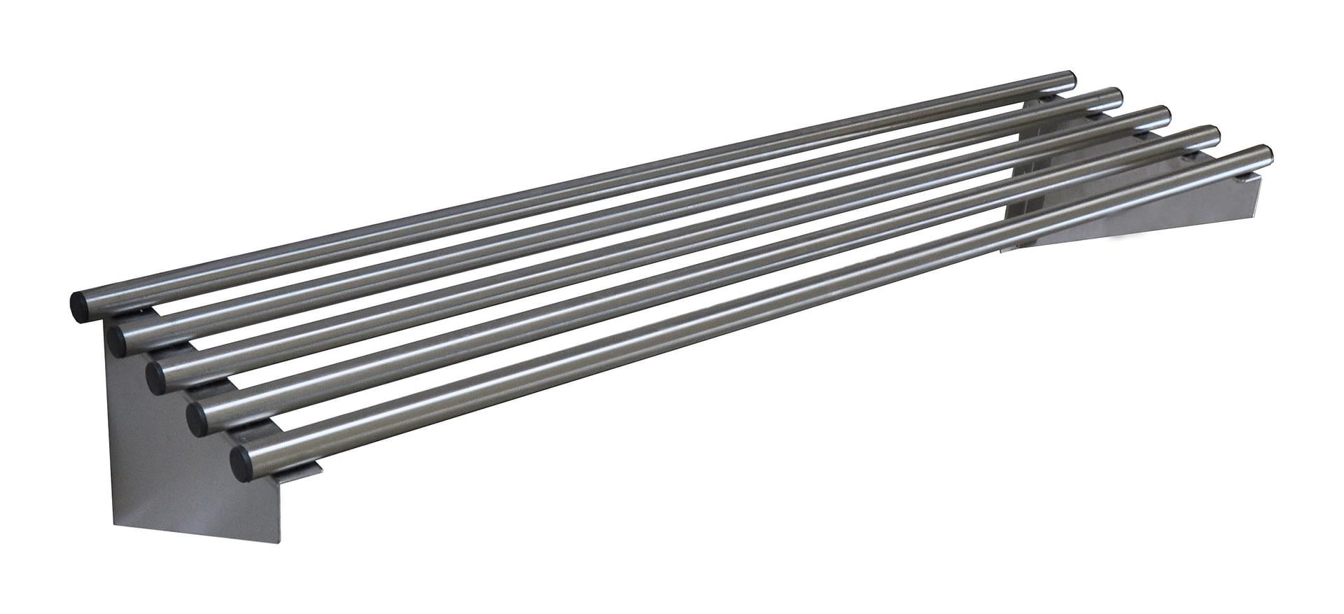 Stainless Steel Pipe Wall Shelf, 1200 X 300mm deep