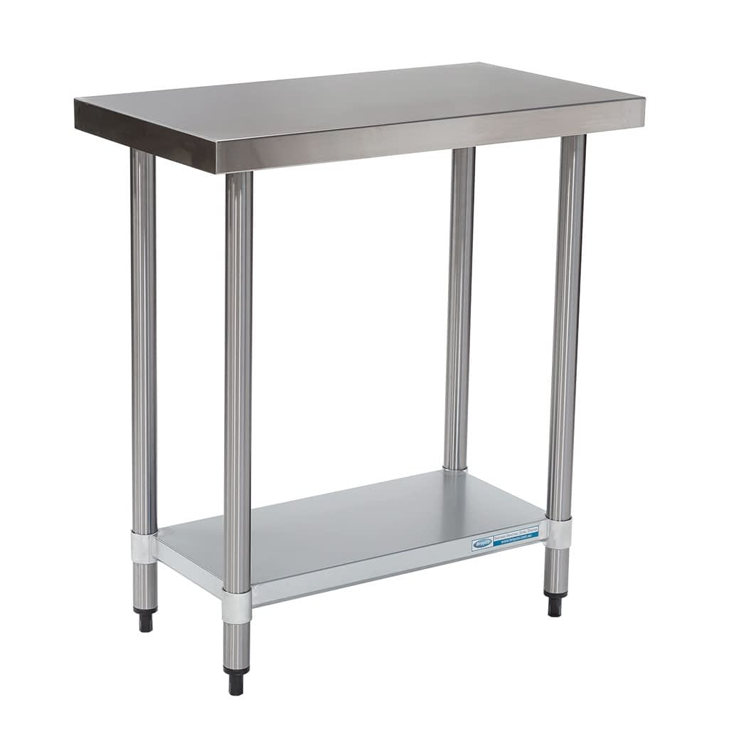 Commercial Grade Stainless Steel Flat Bench 800 x 450 x 900mm high
