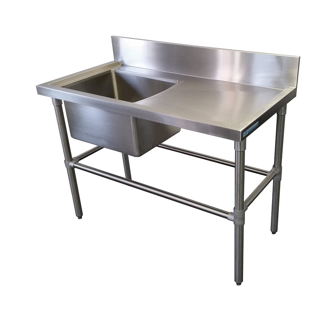Stainless Sinks – Right Bench, 1350 x 610 x 900mm high