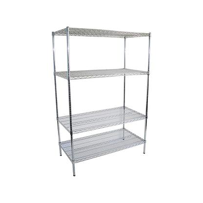 Chrome Dry Store Shelves 4 Tier, 1219 X 610 deep x 1800mm high-0
