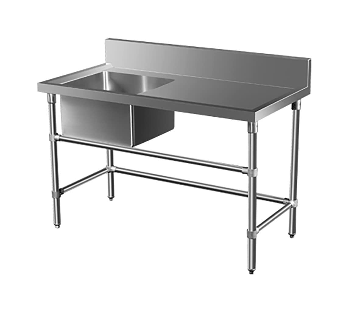 Stainless Steel Catering Sink – Right Bench, 1350 x 700 x 900mm high