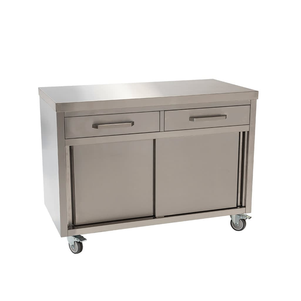 Stainless Steel Commercial Kitchen Cabinet, 1200 x 610 x 900mm high