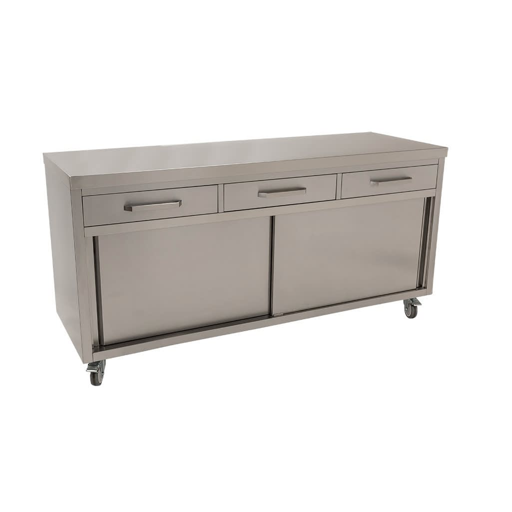 Stainless Steel Cabinet for Commercial Kitchens, 1800 x 610 x 900mm high