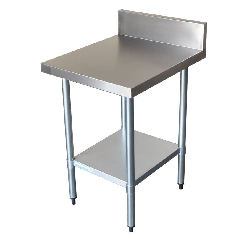Commercial Grade Stainless Steel Splashback Bench, 600 X 700 x 900mm high