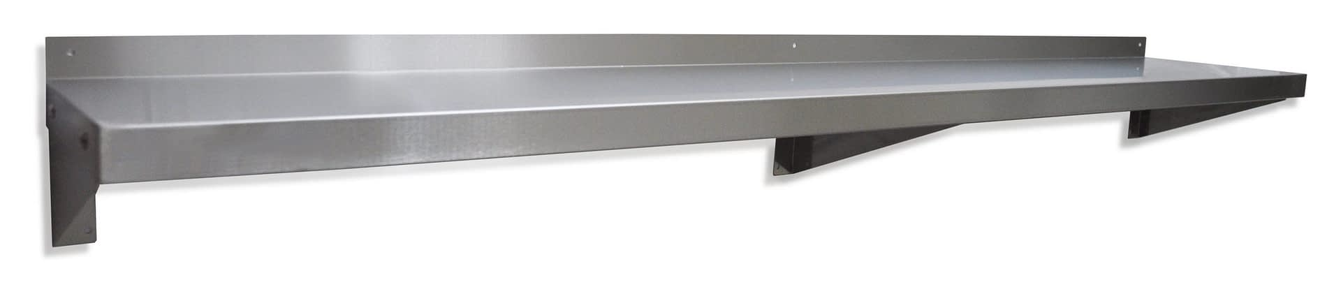 Stainless Steel Solid Wall Shelf, 1800 X 300mm deep