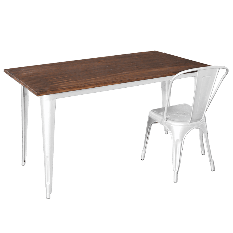 Replica Tolix Dining Table with White Legs