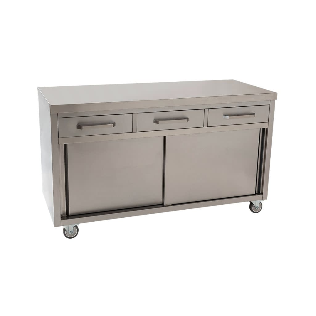 Stainless Restaurant Cabinet, 1500 x 610 x 900mm high