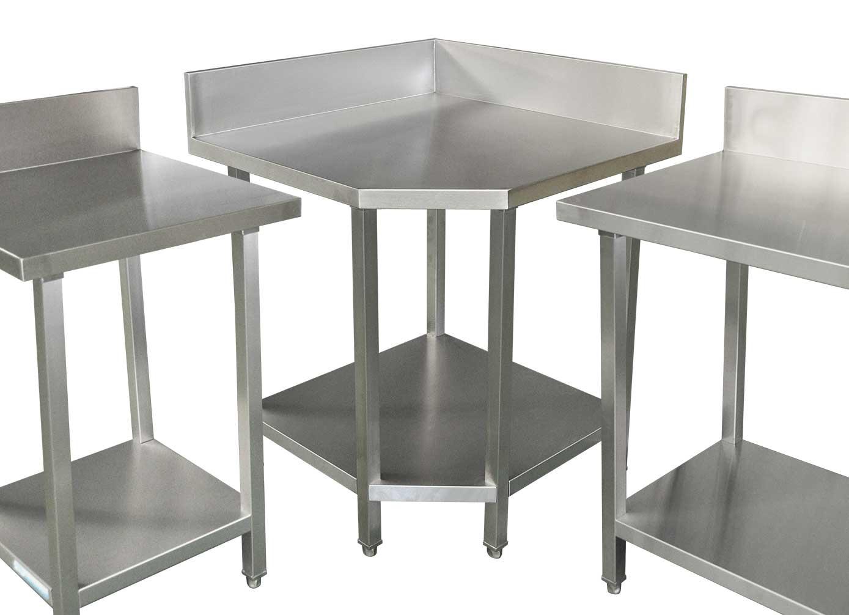 Commercial Grade Stainless Steel Splashback Bench, Premium Range 810 X 810 X 900mm high