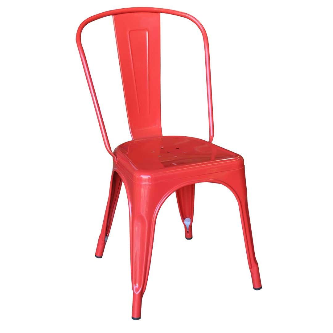 Replica Xavier Pauchard Tolix Chair, Red