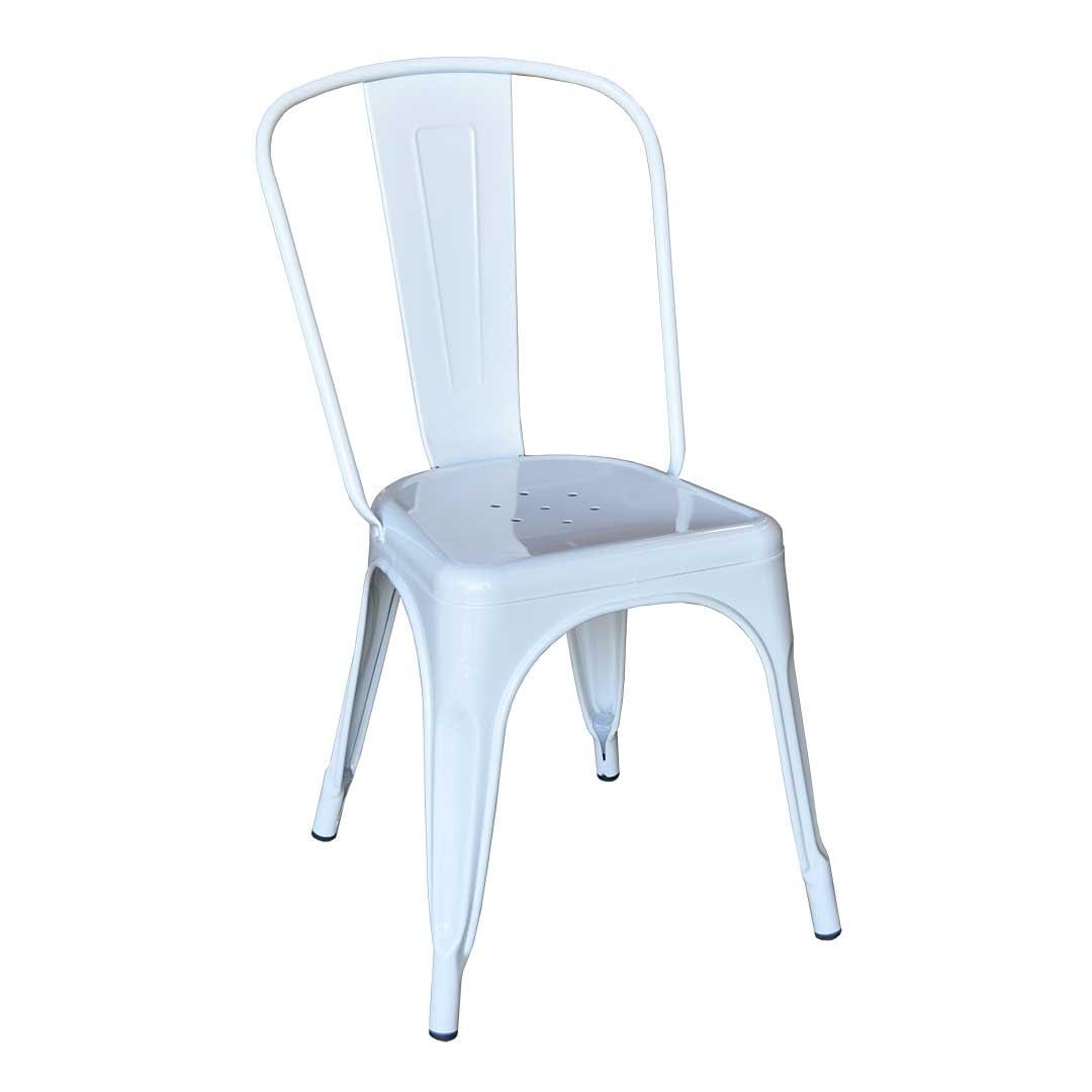 Replica Xavier Pauchard Tolix High Back Chair, White-0