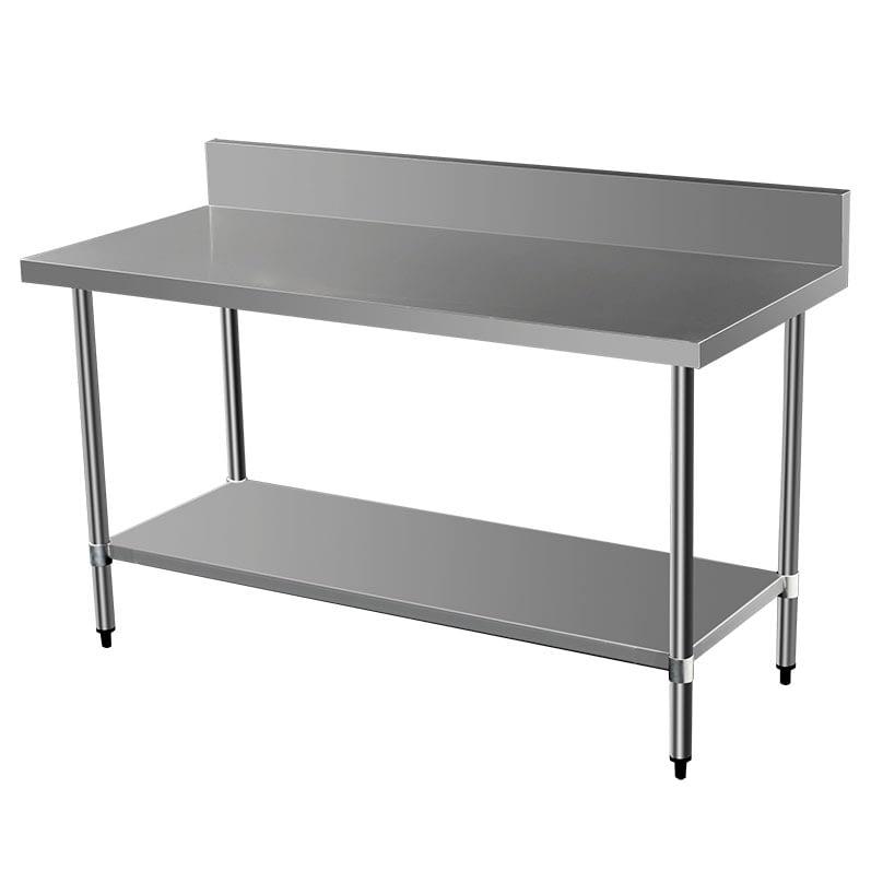 Commercial Grade Stainless Steel Splashback Bench, 1500 X 700 x 900mm high
