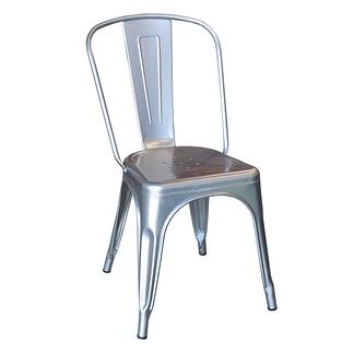 Replica Xavier Pauchard Tolix High Back Chair, Silver-0