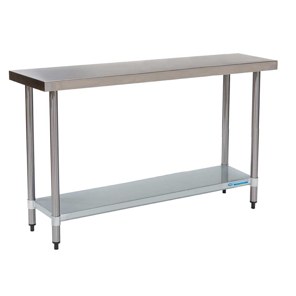 Commercial Grade Stainless Steel Flat Bench 1200 x 450 x 900mm high