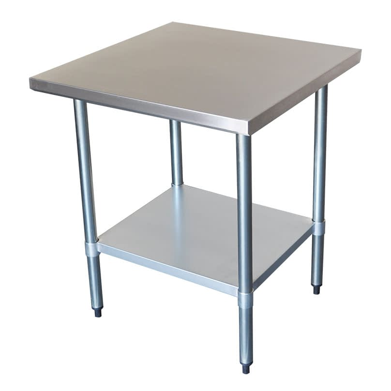 Commercial Grade Stainless Steel Flat Bench, 762 x 762 x 900mm high