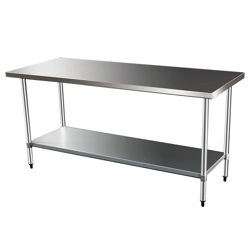 Commercial Grade Stainless Steel Flat Bench, 1829 x 610 x 900mm high