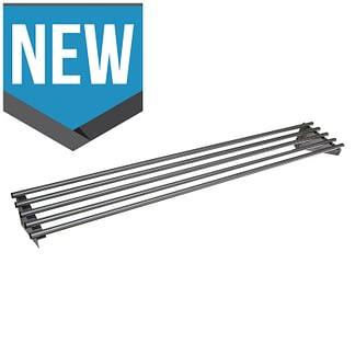 Stainless Steel Restaurant Pipe Wall Shelf, 1800 X 450mm deep-0