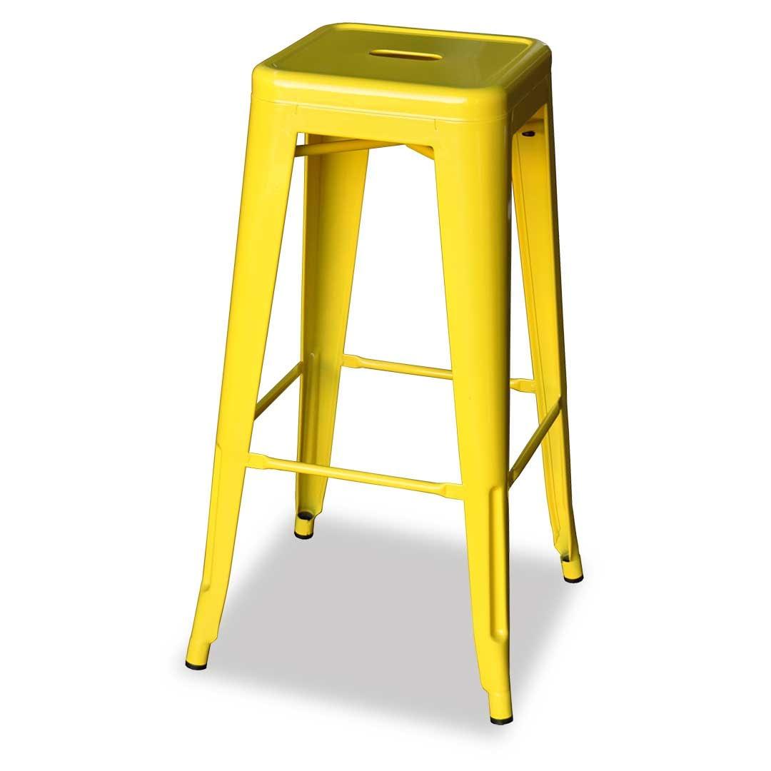 Replica Xavier Pauchard Tolix Stool, 66cm, Yellow