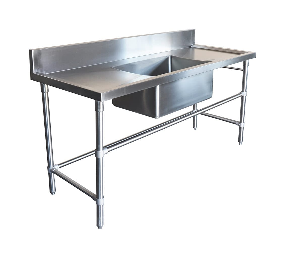 Stainless Steel Sinks – Right And Left Bench with Trough Sink, 1800 x 700 x 900mm high