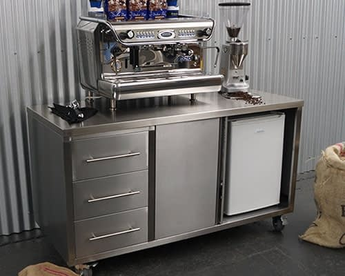 Stainless Steel Coffee Cart Cabinets