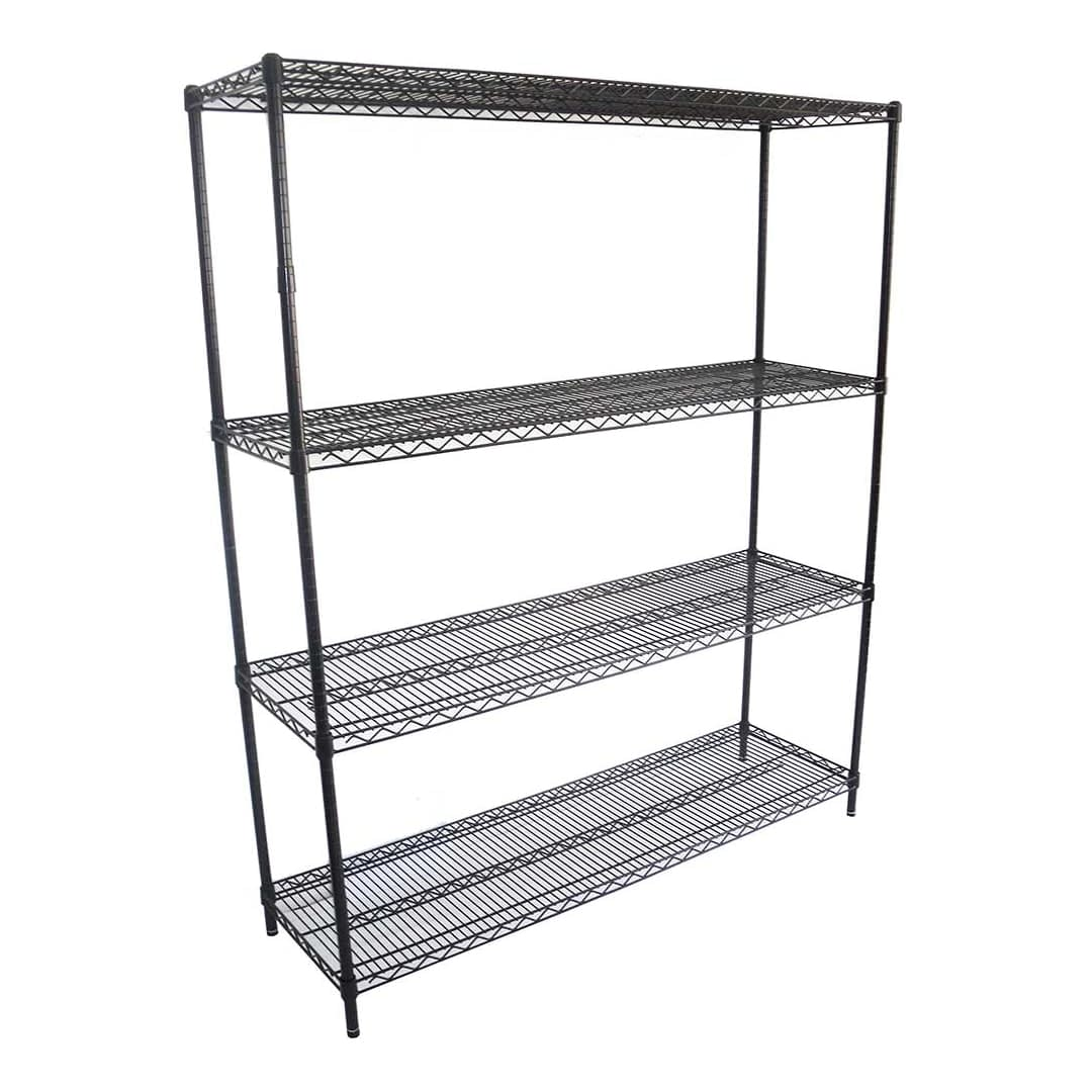 Epoxy Wire Shelving For Coolroom/Dry Store, 4 Tier, 1524 X 457 deep x 1800mm high