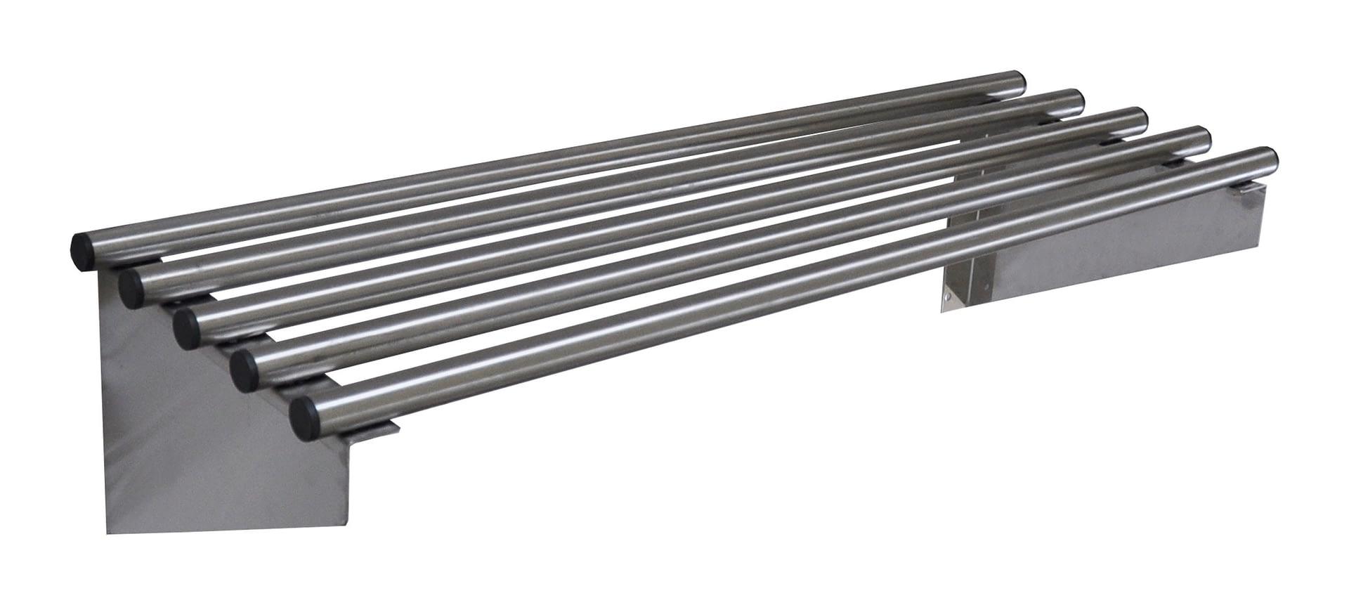 Stainless Steel Pipe Wall Shelf, 900 X 300mm deep